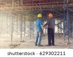 construction concepts  engineer ... | Shutterstock . vector #629302211