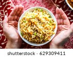 indian national food   curry... | Shutterstock . vector #629309411