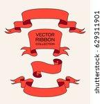 vector ribbon set. celebration... | Shutterstock .eps vector #629311901