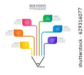 education infographics template ... | Shutterstock .eps vector #629316077