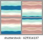 set of creative abstract vector ... | Shutterstock .eps vector #629316137
