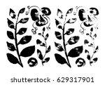 black and white monochrome... | Shutterstock . vector #629317901