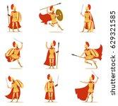 Spartan Soldier In Golden Armo...