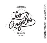 los angeles  aged vintage style ... | Shutterstock .eps vector #629325314
