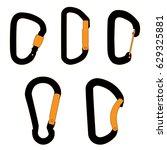 climbing carabiners set | Shutterstock .eps vector #629325881