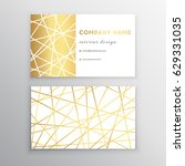 luxury business card. gold and... | Shutterstock .eps vector #629331035