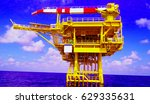 offshore production platform in ... | Shutterstock . vector #629335631