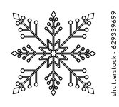 snowflake christmas decoration... | Shutterstock .eps vector #629339699