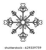 snowflake christmas decoration... | Shutterstock .eps vector #629339759
