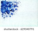 abstract blue watercolor... | Shutterstock . vector #629340791