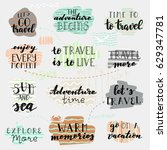 abstract travel map illustration | Shutterstock .eps vector #629347781