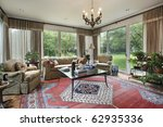 traditional family room with... | Shutterstock . vector #62935336