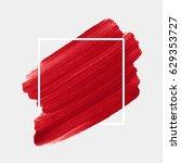 logo brush painted acrylic... | Shutterstock .eps vector #629353727