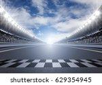 track arena 3d rendering  | Shutterstock . vector #629354945
