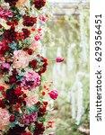 fragment of wedding arch ...   Shutterstock . vector #629356451
