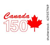 canada 150 birthday graphic | Shutterstock .eps vector #629357969