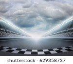 track arena 3d rendering | Shutterstock . vector #629358737