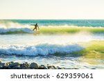 Surfing In The Spring. Clear...