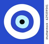 greek evil eye vector   symbol... | Shutterstock .eps vector #629359541