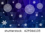 dark blue vector christmas... | Shutterstock .eps vector #629366135