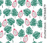 seamless tropical pattern with... | Shutterstock .eps vector #629366879