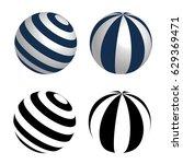 ball  sphere with alternating... | Shutterstock .eps vector #629369471
