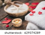wellness decoration with red... | Shutterstock . vector #629374289
