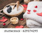 wellness decoration with red... | Shutterstock . vector #629374295