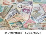 variety of middle east banknotes | Shutterstock . vector #629375024