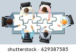 business meeting strategy... | Shutterstock .eps vector #629387585