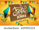 festa junina background holiday | Shutterstock .eps vector #629391215
