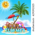 summer vacation background | Shutterstock .eps vector #629392325
