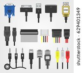 electric plug  connectors and... | Shutterstock .eps vector #629401349