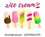 vector flat collection of tasty ... | Shutterstock .eps vector #629406155