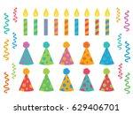 happy birthday polka dot pom... | Shutterstock .eps vector #629406701