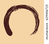 circle painted with a brush ... | Shutterstock .eps vector #629406725