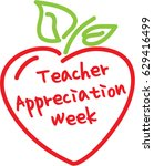 teacher appreciation week apple ... | Shutterstock .eps vector #629416499