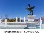 statue of pegasus  corinth ...   Shutterstock . vector #629419727