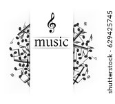 music banner with shadow.... | Shutterstock .eps vector #629425745