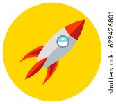 icons rocket of toys in the... | Shutterstock .eps vector #629426801
