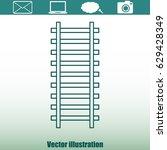 rail road icon | Shutterstock .eps vector #629428349