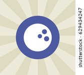 bowling ball icon. sign design. ...