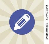 pencil icon. sign design....