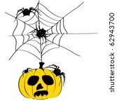 vector illustration of halloween | Shutterstock .eps vector #62943700