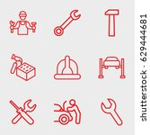 maintenance icon. set of 9... | Shutterstock .eps vector #629444681