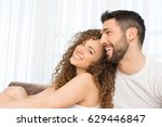 intimate couple hugging in the... | Shutterstock . vector #629446847