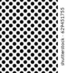 seamless pattern of black dots... | Shutterstock .eps vector #629451755