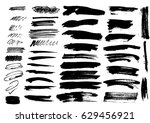 detail brush paint stroke... | Shutterstock .eps vector #629456921