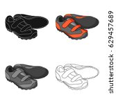 shoes for cyclists. special... | Shutterstock .eps vector #629457689