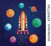 space digital vector... | Shutterstock .eps vector #629457764